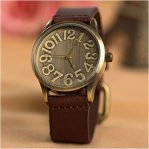 Big Number retro Watch Jam tangan vintage angka besar